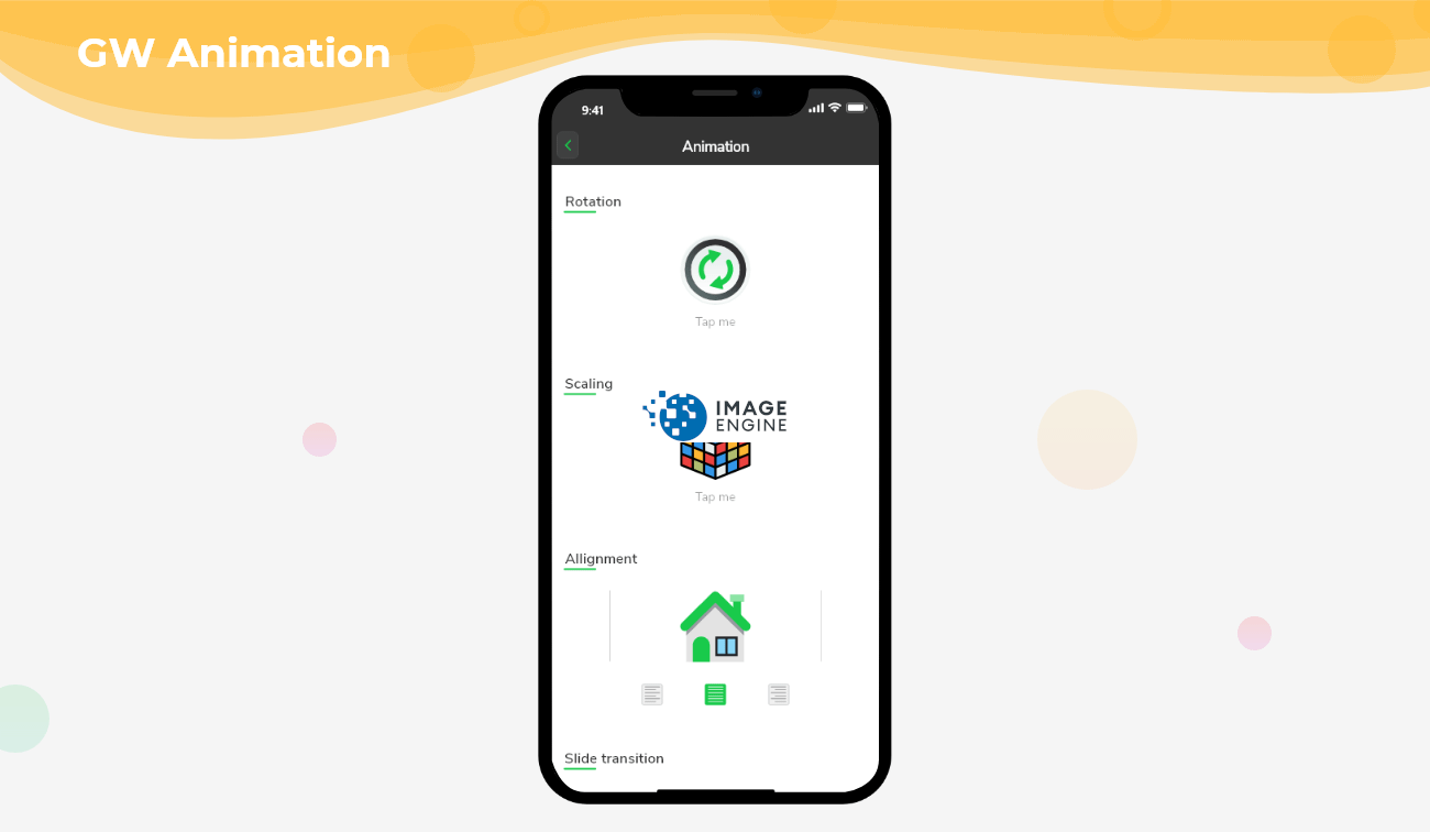Flutter Animation - That understands the component's current value and its states.
